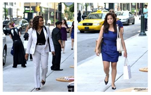 Business women leaving work.