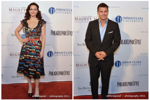 Oct 14, 2011 The-Mighty-Macs-Movie-Premiere Dou-Board/ Carla Gugino & David Boreanaz