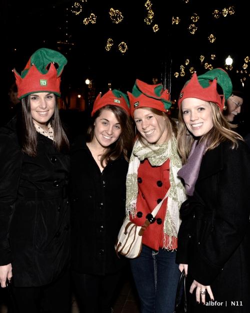 Nov 30, 2011 Rittenhouse Tree Lighting Alex, Liz, Brit & Randyl