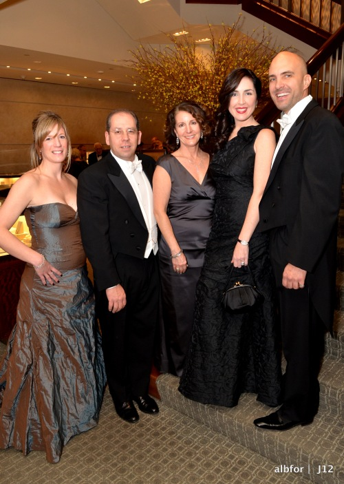 Jan 28, 2012, Tiffany McCauley, Anita Leto with husband & Nicole Cashman with Nigel Richards