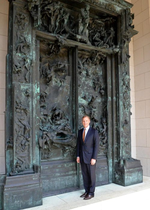 May 16, 2012 Rodin Timothy Rub, The George D. Widener Director & Chief Executive Officer in front of the Gates-of-Hell