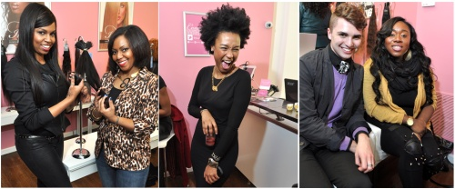 Melody Wright (Beauty editor of Cosmetically-Challenged.com)  |  Rakia Reynolds (Skai Blue Media)  |  Ian Michael with Carmena Ayo-Davies (3BG Marketing)