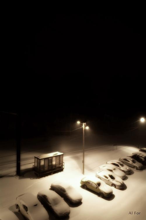 Snow 12:11am
