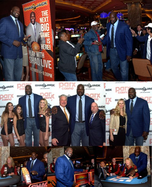 Oct 4, 2015 Shaquille O' Neal at Parx Casino® for World Launch of ShaqBLACKJack