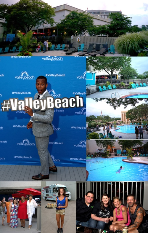Also, Guests chilled out later, downstairs, at VFC's Valley Beach.