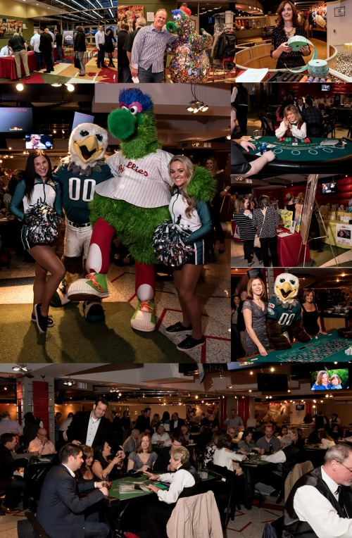 Phillie's Phanatic, Eagels' Swoop and Eagels' Cheerleaders opens the crowd